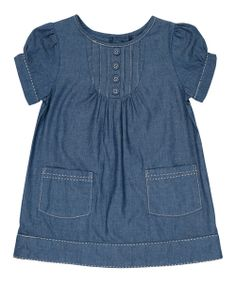 Look what I found on Blue Chambray A-Line Dress - Infant, Toddler & Girls by JoJo Maman Bébé Chambray, Moda Kids, Girl Outfits, Cute Outfits, Infant Toddler, Toddler Girls, Girls Wardrobe, Fashion Mode, Glamour