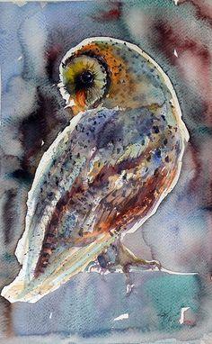 Barn Owl Painting - Barn Owl by Kovacs Anna Brigitta