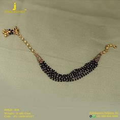 Gold 916 Premium Design Get in touch with us on Gold Necklace Simple, Long Pearl Necklaces, Bridal Jewelry, Beaded Jewelry, Gold Jewellery, Baby Jewelry, Jewlery, Mangalsutra Bracelet, Gold Mangalsutra Designs