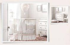 Rooms | Restoration Hardware Baby & Child. white nursery with hot air balloon chandelier - adorable!