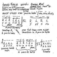 A E E E Ddea Bb Eb Menu on Dance Foot Diagrams