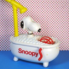 For Sale - Snoopy's Bubble Tub -  Snoopy's one dog who isn't afraid of baths, not when there are bubbles involved! Find the vintage Chemtoy from 1976 in our shop at CollectPeanuts.com.