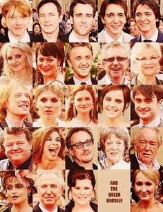 HP cast, and the queen herself!