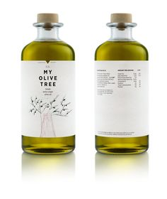 """My Olive Tree branding, mousegraphics. client [came] to us with the simple request of """"creating a family gift""""... was meant to address first of all the members of a Greek family of olive oil producers in Karpofora, Messinia. We had to pay tribute to a strong, living tradition and this is exactly what we did. We used a children's drawing that conveys in the most direct way a lineage in the form of a tree and we placed every family member's name on its branches."""