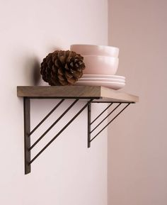 Use shelf brackets to build your own bespoke wall shelving as open cupboards in your kitchen, or use metal shelves as a single feature for your bedroom. Cat Wall Shelves, Metal Shelves, Floating Shelves, Floating Shelf Brackets, Steel Shelf Brackets, Wall Brackets, Shelving Brackets, Shelf Brackets From Above, Shelf Brackets Kitchen