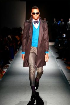 Ozwald Boateng- smart/casual for normal daywear that could walk straight into night.