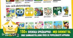 150+ svenska språkappar för barn, nyanlända, SVA, SFI Ipad, Android, Little Ones, Iphone, Family Guy, Language, Notes, Teaching, Writing