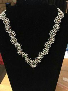 Handmade Chain Jewelry, Wire Jewelry, Beaded Jewelry, Jewelery, Jump Ring Jewelry, Chainmaille, Beading Patterns, Weaving, Jewelry Making