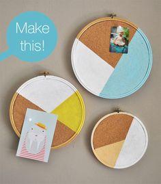 Modern Geo Embroidery Hoop Cork board – The Trend Report - 2Modern