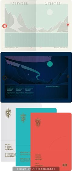 Norway's new passport   Designer: Neue