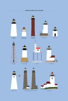 Lots of lighthouses.