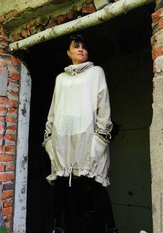 Купить Платье-пончо в стиле БОХО (№114) - белый, платье бохо, Бохо платье