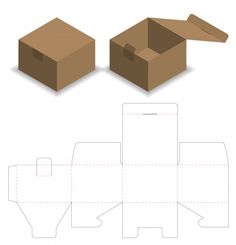 Box design box template design cut die packaging Vectors, Photos and PSD files Diy Gift Box Template, Box Packaging Templates, Paper Box Template, Box Templates, Packaging Design Box, Origami Templates, Bag Packaging, Cosmetic Packaging, Foam Crafts