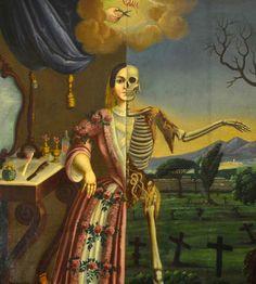 """From Morbid Anatomy Facebook:Tomás Mondragón, """"Alegoría de la Muerte,"""" 1856"""