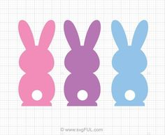 easter bunnies svg Easter Bunny Template, Bunny Templates, Some Bunny Loves You, Make Your Own Stickers, Easter Peeps, Easter Crafts, Creations, Cricut, Printables