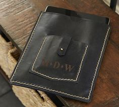 Miles Leather Tablet Case #potterybarn Next Gifts, Mobile Cases, New Hobbies, Crafts To Do, Travel Style, Leather Craft, Ipad Case, Pottery Barn, Bags