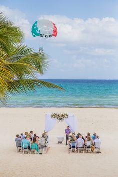 Breathtaking beach ceremony setup at Riu Yucatan in Playa del Carmen.  Photographer: Adventure Photos