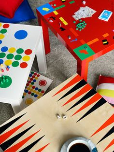 With a crafty eye and tons of bright paint, the blank table morphs into your favorite classic board games, like backgammon and Monopoly. Get the tutorial at IKEA »   - HouseBeautiful.com