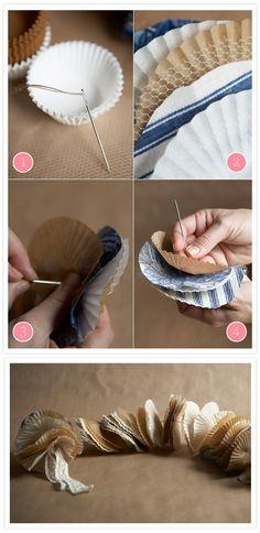 DIY: cupcake liner garland