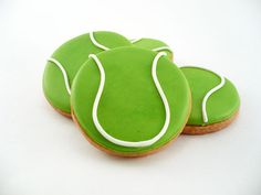 Decorated Cookies  Tennis by katieduran on Etsy, $26.00