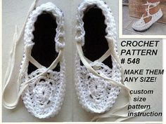 Crochet sandals espadrilles crochet pattern and by Hectanooga, $5.99