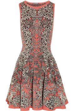 Alexander McQueen Barnacle-intarsia flared dress #AlexanderMcQueen #details #intricate #dress