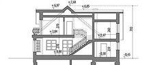 Przekrój pionowy projektu Juliusz Mały Floor Plans, Floor Plan Drawing, House Floor Plans