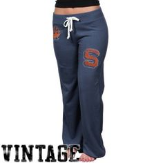 Syracuse Orange Womens Relaxed Sweatpants - Navy Blue