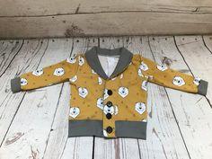Polar Bear Print Baby / Toddler Grandpa Cardigan / Sweater