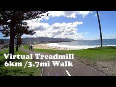 Virtual Treadmill Walk - Bulli Beach, NSW Australia - 6km / 3.7mi (With ...