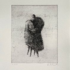 "9.5 x 12 ""Embrace"" by valdas on Etsy https://www.etsy.com/listing/95869347/original-etching-embrace"