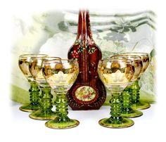 Vintage Roemer Wine Glasses Set of 2 Wine by AntiqueBoutiqueIdeas