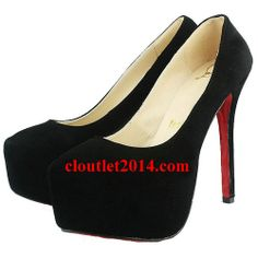 11d26349fdf3 Discount Christian Louboutin Daffodile 160mm Suede Pumps Black