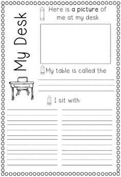 Printables Back To School Worksheets For First Grade first day of school back to pinterest activities time is here memory book activ