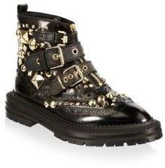 d62588cb20e Burberry Everdon Leather Ankle Boots. Designer Shoes