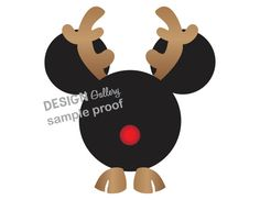 Mickey Mouse Reindeer Disney Christmas image DIY Printable Iron On t shirt Transfer Instant Download