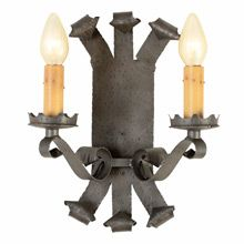 Romance Revival Faux Wrought Double Candle Sconce   Restored Lighting, Antiques & Vintage Finds from Rejuvenation