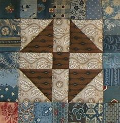 Lincoln's platform (alternative) Quilt Block Barbara Brackman Civil War Quilt