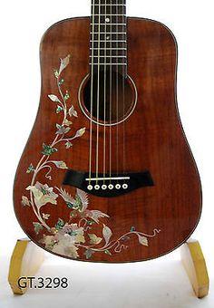 Antoniotsai-Birds-Inlay-Solid-Mah0gany-6-Strings-Handmade-Travel-Guitar-3298
