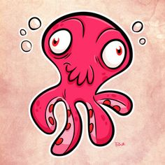 Squiddy! by Paul Gill, via Behance
