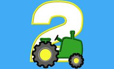 Old Tractor Birthday Number 2 Machine Applique by PrevailDesigns, $3.00
