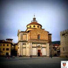Santa Maria delle Carceri Square and Church. Prato, Tuscany.