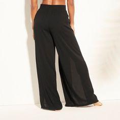 Women's Tie Waist Beach Cover Up Pants - Kona Sol™ : Target Leotard Fashion, Beachwear Fashion, Bikini Fashion, Beach Pants, Dress For Success, Beach Covers, Fashion Outfits, Womens Fashion, Fashion Fall
