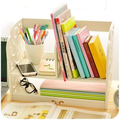 Barato Estilo europa esculpida em madeira caixa de armazenamento Desk Organizer DIY Home & Office Desktop de madeira decorativa Book Shelf, Compro Qualidade Ciaxas de armazenamento & lixo diretamente de fornecedores da China:                              Bem-vindo a visitar a nossa loja