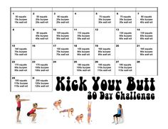 "Had to combine a few challenges to have the perfect ""Kick Your Butt"" 30 Day Challenge! #30daychallenge #ButtChallenge"