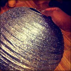 DIY Hand Glittered Paper Lantern #PartyTime #Glitterati