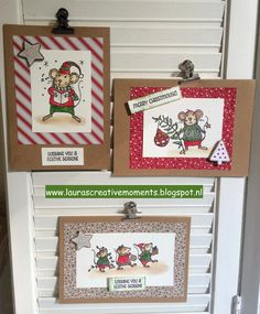 Merry Mice, Stampin' Up! - Christmas cards -