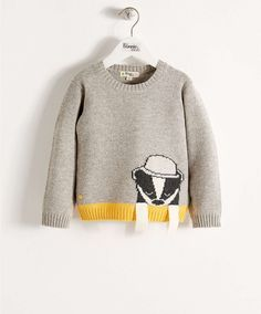 Bonnie Baby Owen Grey Knitted Sweater - NEW Arrivals - Mamas & Papas