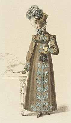 Ackermann's Repository, Walking Dress, February 1818.