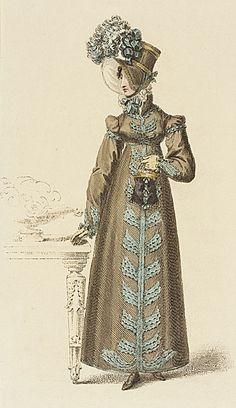 Ackermann's Repository, Walking Dress, February 1818.Pretty darn cute!!!